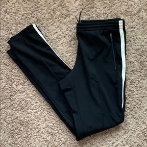Prada Mens Track Pants Striped Black Jogger Slim